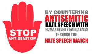 Banner STOP Antisemitism