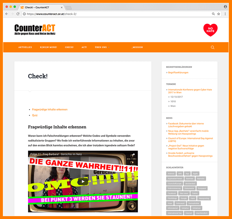 CounterAct Site Screenshot