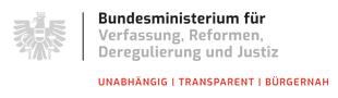 Logo des Bundesministeriums für Verfassung, Reformen, Deregulierung und Justiz (BMVRDJ)