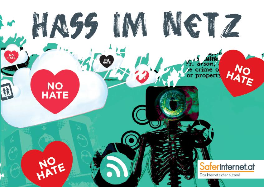 Das Bild zeigt einen Ausschnitt der Broschüre für Jugendliche zu Hass im Netz.